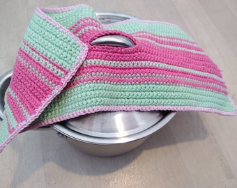 Pot holders crocheted - with hole for lid handle
