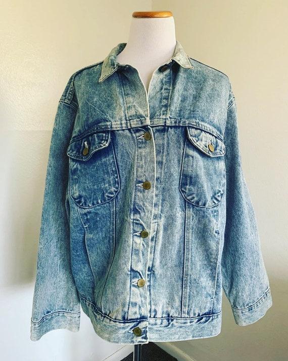 80's Wrangler Acid Wash Denim Jacket