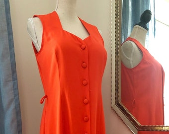 fdde47bb9722 Farouche by Lori Weidner Orange Button Down Maxi Dress Size 12