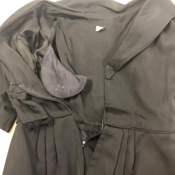 50s Black Peplum Dress - image 9