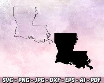 528d1b7815a2d Louisiana SVG - Louisiana Silhouette - Louisiana Outline - Louisiana  Clipart - State SVG - Silhouette Cameo - Cricut - Instant Download