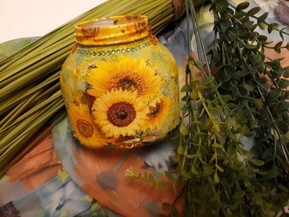Sunflower Vase by Darcie's Art Store on Etsy