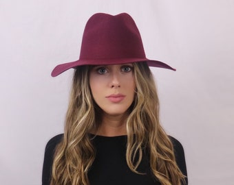 83633b2481f Wool Fedora in Chianti Wine