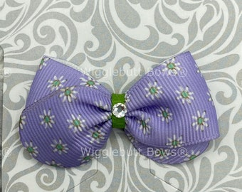 Multi-color Hair Bow 4 In Wigglebutt Bows Dog Collar Bow