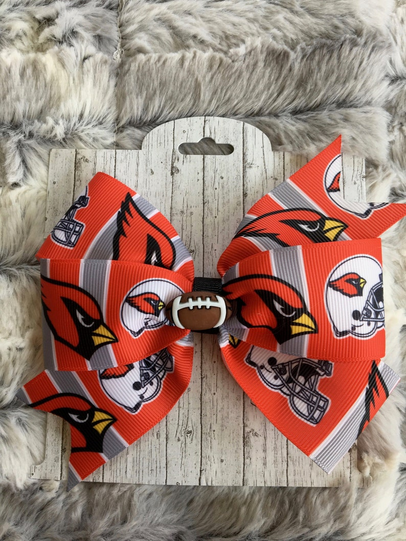 cheap for discount d2fe6 099ef 5 In. Arizona Cardinals Football Fan Bow I- Dog Collar Bow - Hair Bow -  Wigglebutt Bow