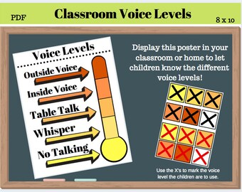 image regarding Voice Level Chart Printable called Voice stage Etsy