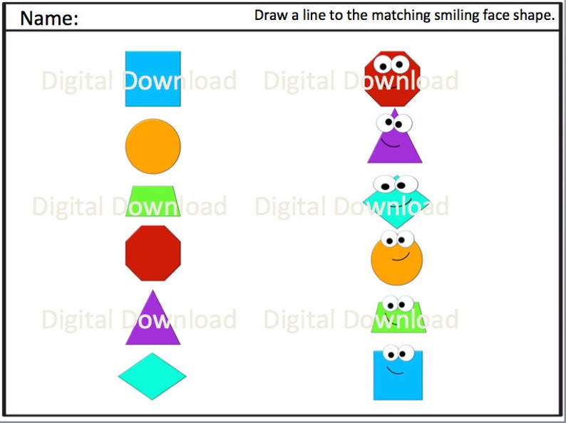 image relating to Printable Shapes Flashcards titled Styles Flashcards and Worksheets Printable Downloads // Styles // Tracing // Worksheet // Counting