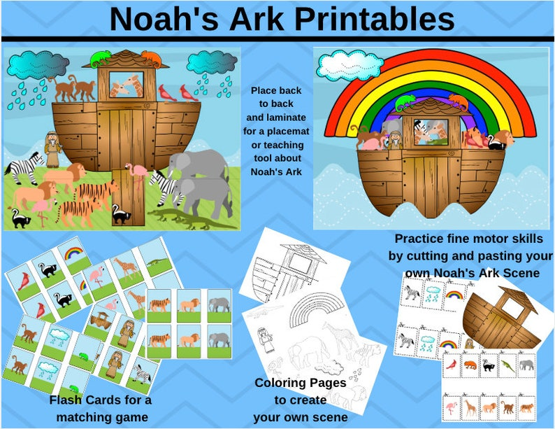 graphic relating to Make Your Own Matching Game Printable identify Noahs Ark Printable Downloads // Matching Match // Worksheet // Memory Sport // Bible // Sunday Higher education