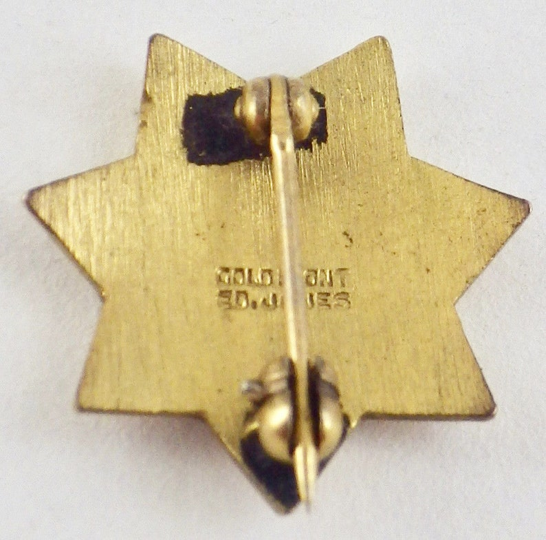 Vintage 10K Yellow Gold Front California Correctional Officers Assn Lapel Pin