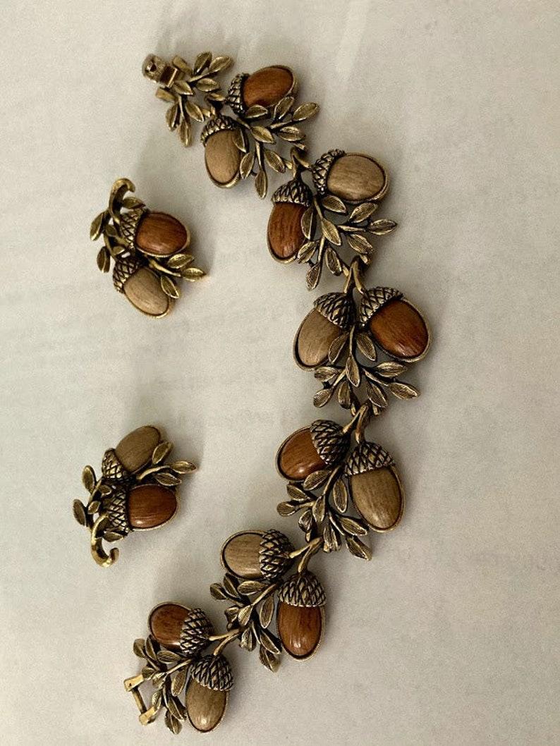 Acorn Bracelet and Earrings Jewelry Set