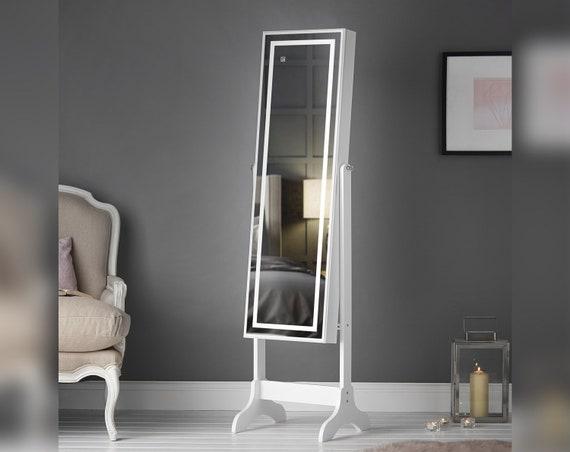 White Standing Full Length Mirror, Free Standing Jewellery Mirror Nz