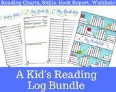 A Kid's Reading Log Bundle *By MyThreeReaders