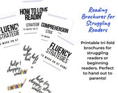 Printable Reading Brochures for Beginning & Struggling Readers - Perfect to Hand Out to Parents!