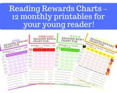 Reading Rewards Charts – 12 monthly Printables for Your Young Reader!