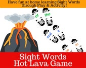 Sight Words Hot Lava Game Printables