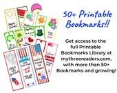 50+ Printable Bookmarks