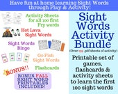 Super Sight Words Activity & Games Bundle (Plus Fall, Winter and Holiday printables bonus!)