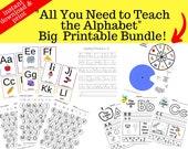 All You Need to Teach the Alphabet Big Printable Bundle
