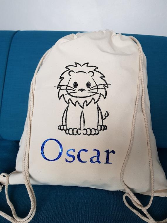 Lion Animals Baby Boy Kids Child/'s Children/'s Personalised Drawstring PE Bag Swimming Bag School Bag