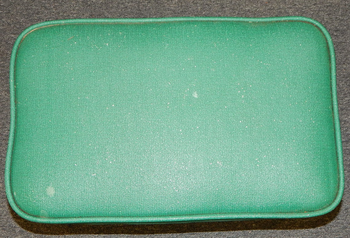 MCM Babcock Philips Green Glitter Foot Stool Ottoman Wire
