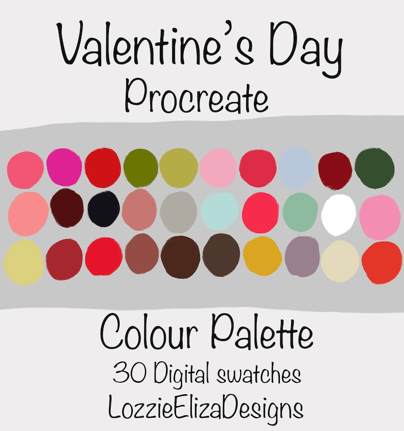 Valentines Day  Procreate Digital Colour Palette  30 image 0