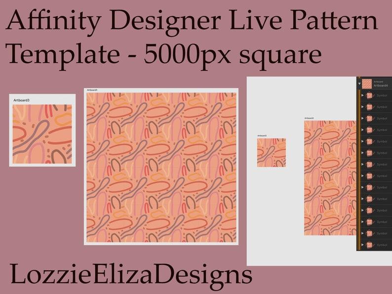 Affinity Designer Live Pattern Template 5000 pixel Square image 0