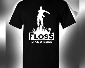 floss like a boss t shirt - white ninja fortnite