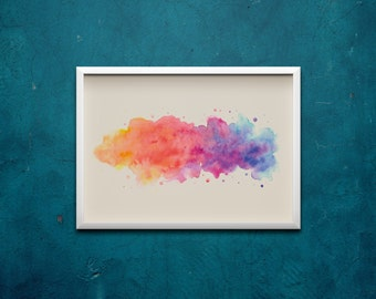 """PRINTABLE """"DUSK till DAWN"""" Watercolour Print  
