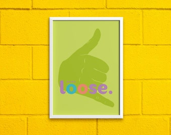 """PRINTABLE """"Hang LOOSE"""" Hand Gesture Digital Drawing 