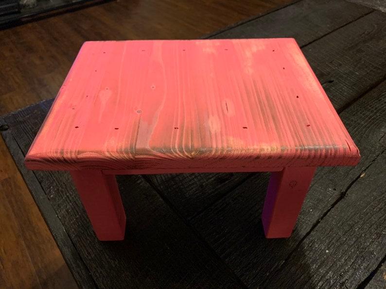 Kids Step Stool Pink Rectangular Step Stool Dragonfly Stool Childrens Step Stool Pink Step Stool