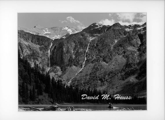Ansel Adams B//W Photo St Marys Lake Glacier Park Wall Picture 8x10 Art Print