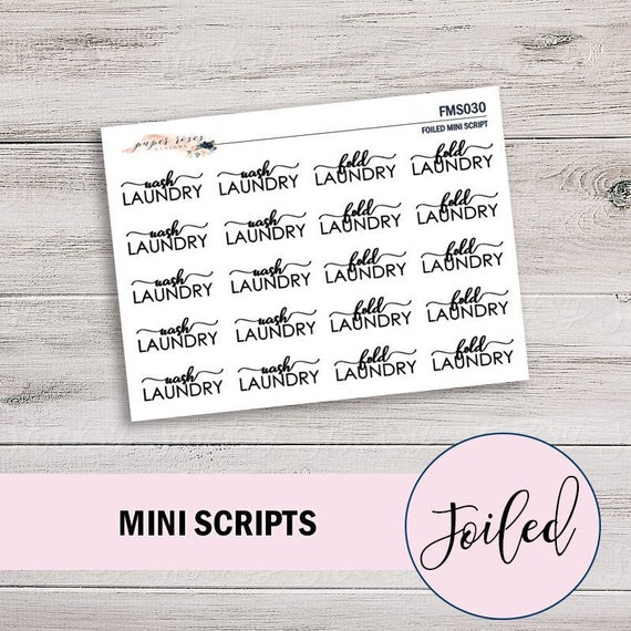 Etsy Time Etsy Seller Mini Scripts Functional Stickers for Any Size Planner
