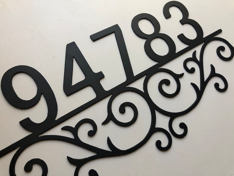 House Numbers Metal Address Sign Scroll Address Number Sign