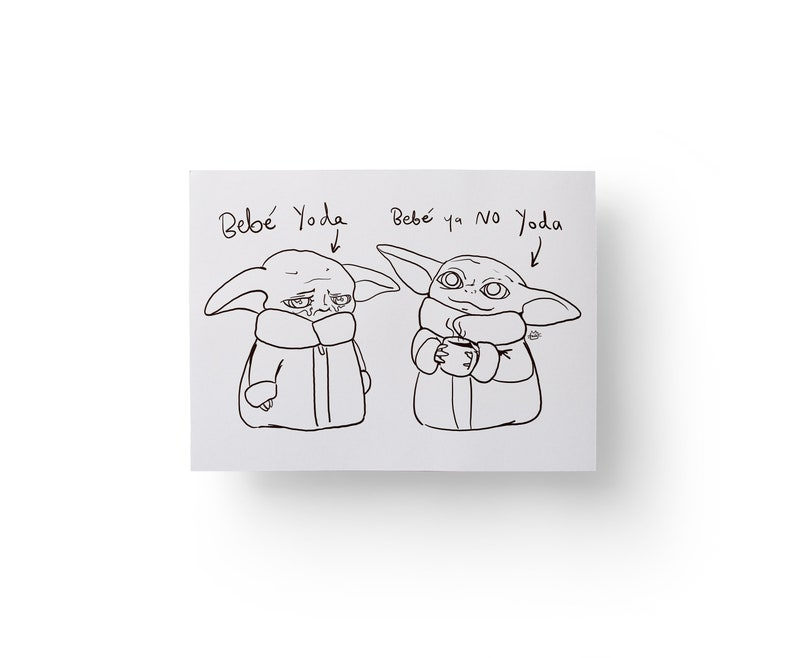 Baby Yoda coloring page for adult. Procreate coloring page ...