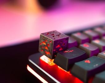 Glowing Minecraft Ore Keycap