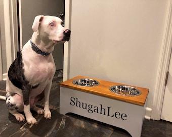 83399edbb225 Custom Personalized Dog Bowl Stand, Large Dog Bowl Stand, Medium Dog Bowl  Stand, Small Dog Bowl Stand