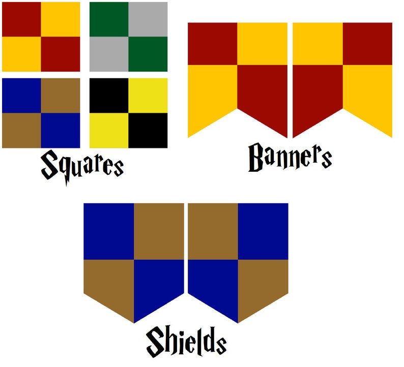 image regarding Harry Potter House Banners Printable known as Harry Potter impressed printable Property Banners