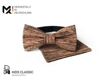 Junior Bow Tie /& 100/% Cork Insert MAY-TIE Set 4-12 years Style: Classic Check Cork fly pretied with hook closure