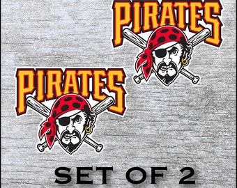 timeless design 0e722 b52da Pittsburgh Pirates Sticker Decal Vinyl SET OF 2 (12