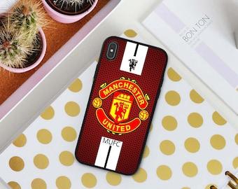 d5e54abd946 New Custom iPhone Xs Max Samsung S10 Plus Xs Xr case X 8+ 7 Plus 6S+ Manchester  United Cases S10 Case S9 Plus S8+ S7 Edge Note 9 8 7 5 Cover