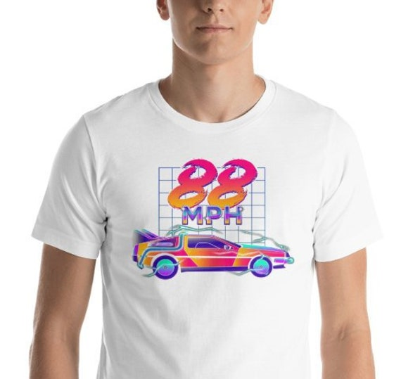 88 MPH DeLorean 80s T-shirt, Adults