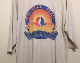 03a50ba870f0 Vintage 1983 Grateful Dead Shirt Spring Tour