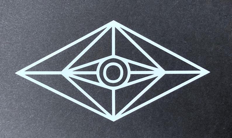 Slander Vinyl DJ sticker decal EDM / All Seeing Eye