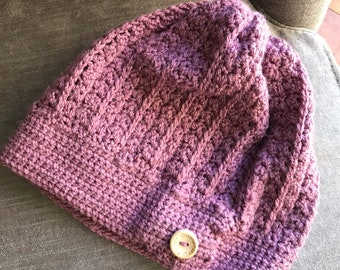 f250ee366cb Childs Slouch Hat in purple