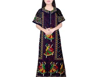 1b5da59d9b Indische Baumwolle lässig Flower Print Nachtwäsche Kleid, Nachtwäsche,  Night, Nighty