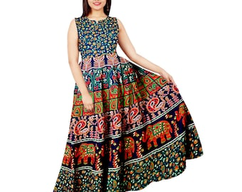 826c1c9a07 Vintage Indian Cotton Maxi Dress - India Cotton Women's Loose maxi dress  oversize cotton caftan linen fitting Bridesmaid dress