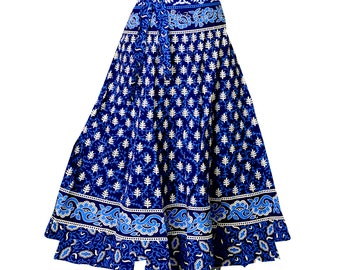 ee834d03a2d Blue Indian wrap skirts