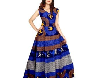d6aa7ab8d0b Indian Fusion Summer Fashion Cotton gown Dress long maxi dress elephant  bohemian maxi dress Indian gown block print maxi dress long dress