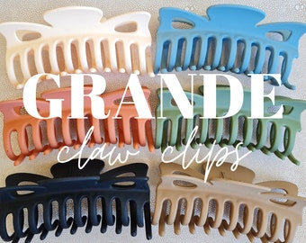 Grande Claw Clips - Matte Large Claw Clips - Large Butterfly Hair Claw