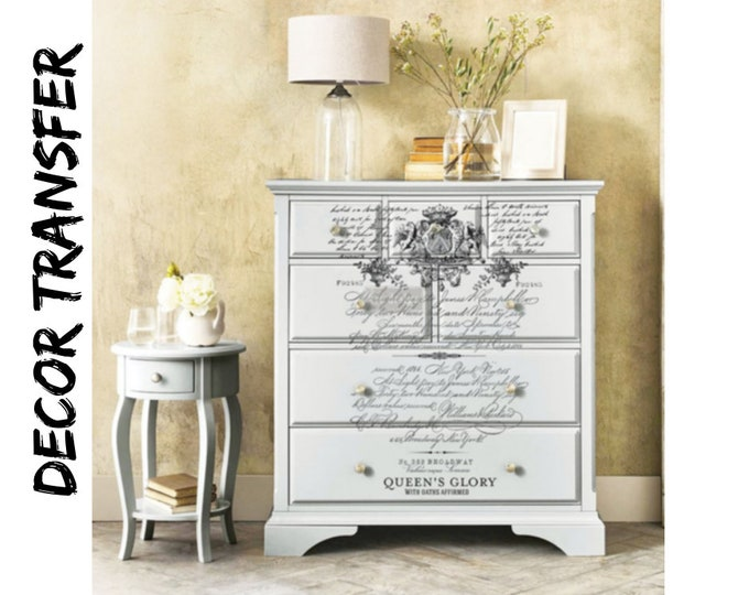 Redesign with Prima -Price Match Royal Burgundy transfer Furniture decal transfer Same Day Shipping!